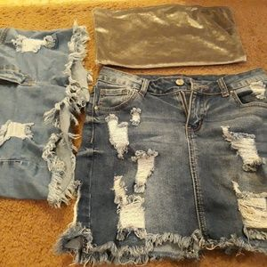 Skirt, shorts and Top Lot